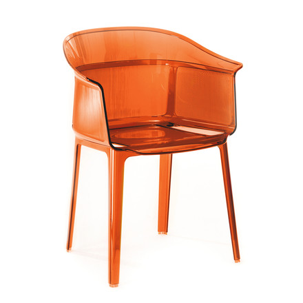 Kartell - Papyrus chair, red-orange, single image