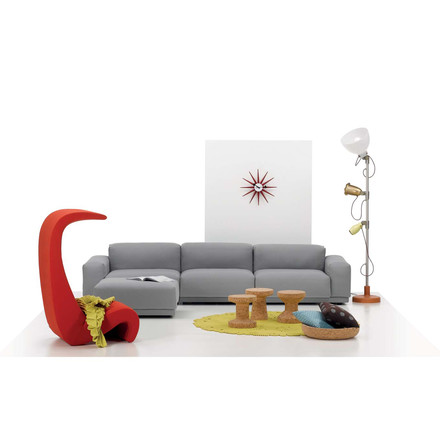 Place Sofa by Vitra as three-seater with chaise longue