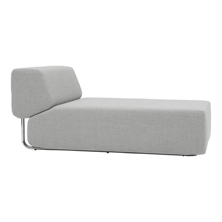 Softline - Noa - Chaise longue, light grey - lateral
