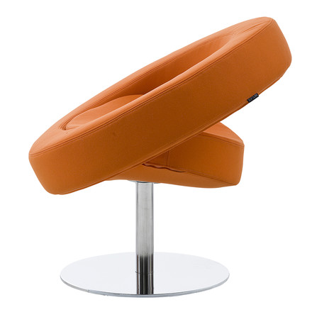 Softline - Hello swivel chair, orange - lateral
