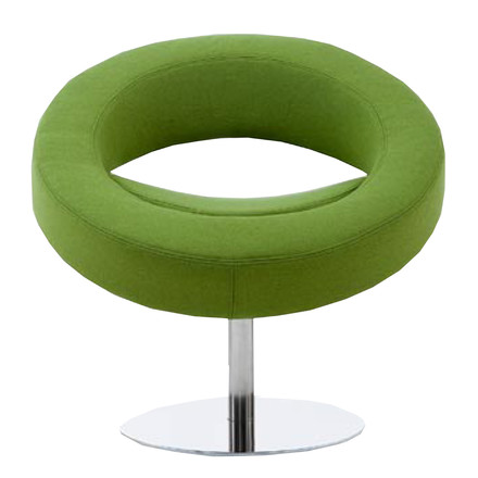 Softline - Hello swivel chair, green - front