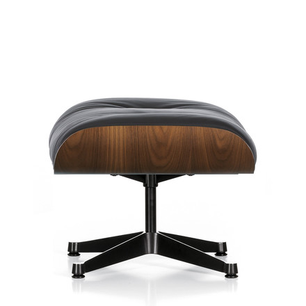 Vitra Ottoman in walnut with polished frame