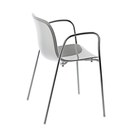 Magis - Troy chair with armrests, white / plastic shell SD390