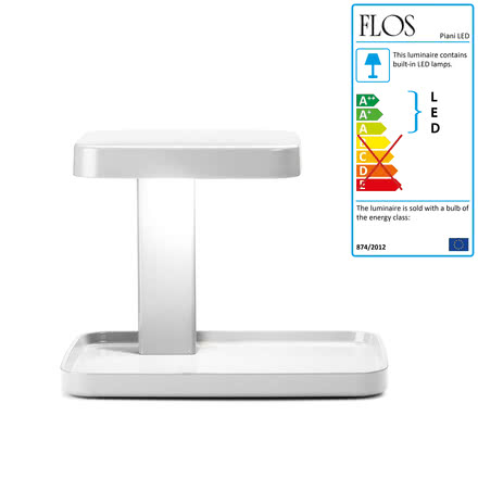 Flos - Piani table lamp, white, front