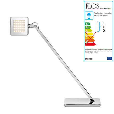 Flos - kelvin Mini LED table lamp, silver, single image