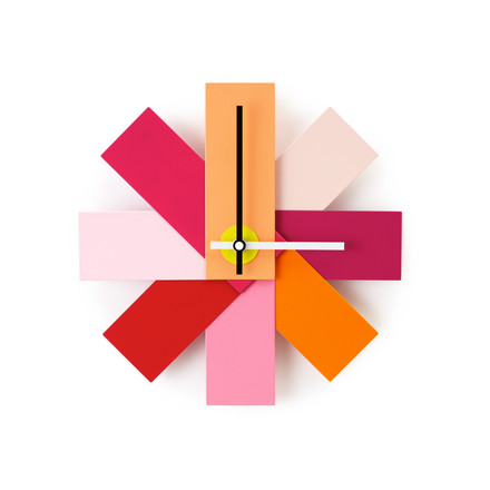 Normann Copenhagen - Watch me Wanduhr, pink, single image
