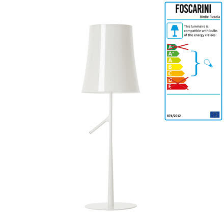Foscarini - Birdie Piccola Table Lamp, white (dimmed)