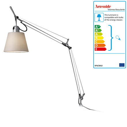 Artemide - Tolomeo (write) Table Lamp, pergament