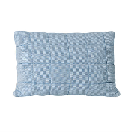 Muuto - Soft Grid Cushion, 40x60cm, aqua blue, single image