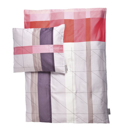 Hay - S&B Colour Block bed linen baby 70x100, red