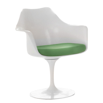 Knoll - Saarinen Tulip chair, swivel, seat cushion avocado, single image