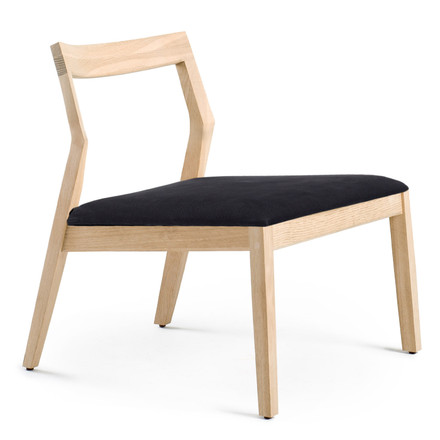 Knoll - lounge chair without armrests, oak / black Divina