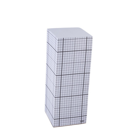 Hay - Tower Block self-stick notepad, black grid on white, 20cm