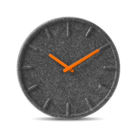 Leff amsterdam - Felt35 Clock, orange