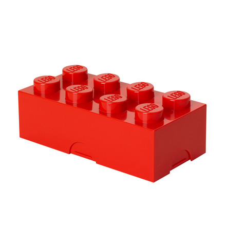 Lego - Lunch Box 8, red, single image