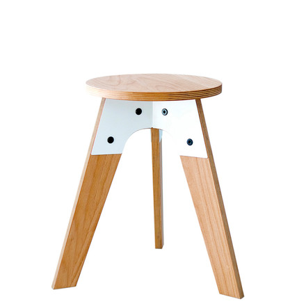 Artificial - stool h45, natural/ white