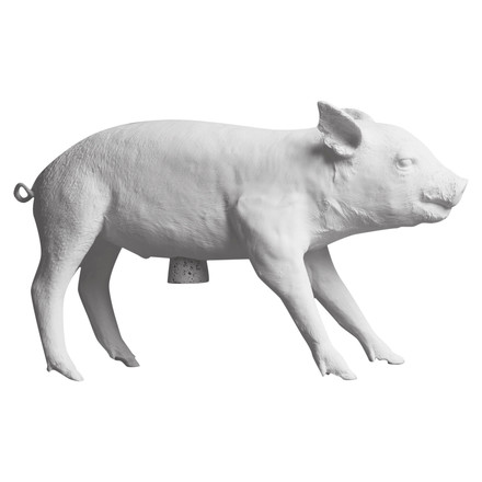 areaware - Pig piggy bank, white black