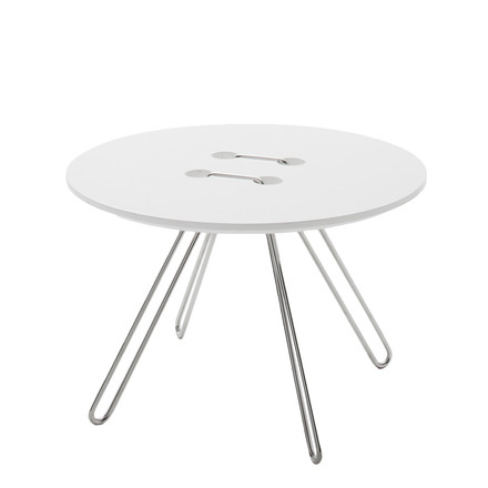 Casamania - Twine table Ø 50 cm, white