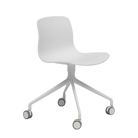 Hay - About A Chair AAC 14, Aluminium polished white / white