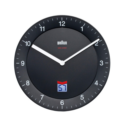 Braun - Analogue Radio Controlled Wall Clock BNC006, black