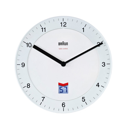 Braun - Analogue Radio Controlled Wall Clock BNC006, white