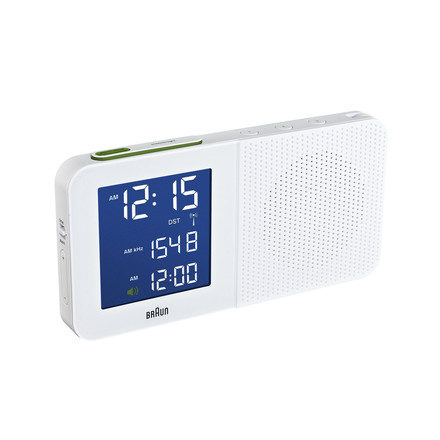 Braun - Digital Radio Alarm-Clock BNC010, white - light on