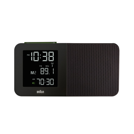 Braun - Digital Radio Alarm-Clock BNC010, black - front