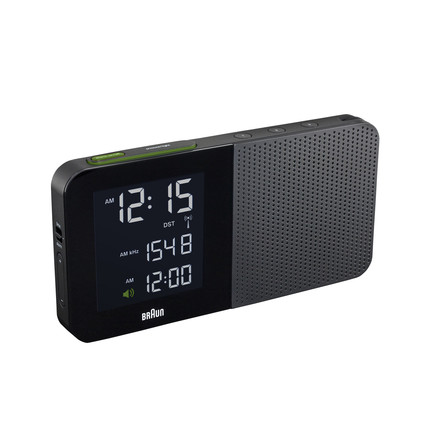 Braun - Digital Radio Alarm-Clock BNC010, black, single image