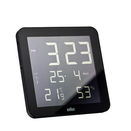 Braun - Digital Funk Wall-Clock BNC014-RC, black