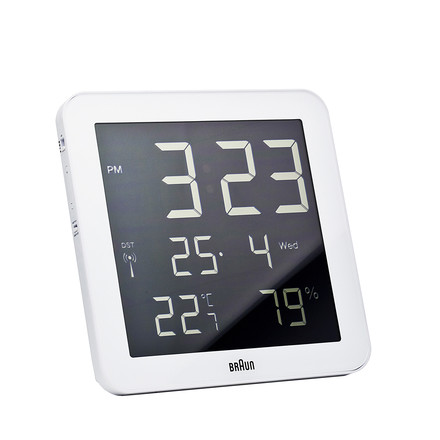 Braun - Digital Funk Wall-Clock BNC014-RC, white