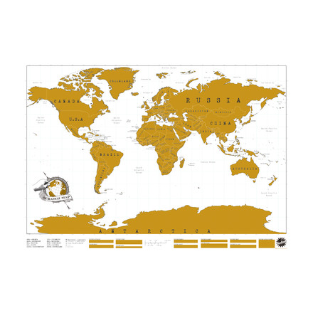 Luckies - Scratch Map world map to scratch free