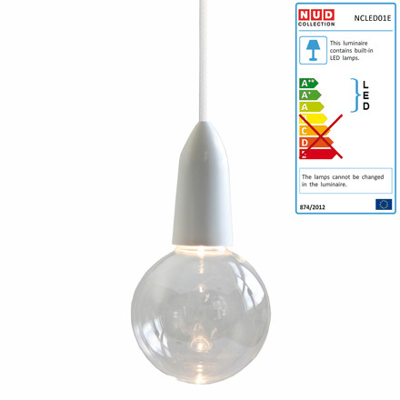 NUD Collection - LED IW Clear, white (TT-01)