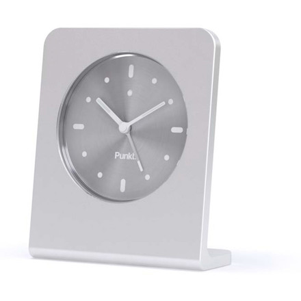 Punkt. - Analog Alarm Clock AC 01, silver anodized
