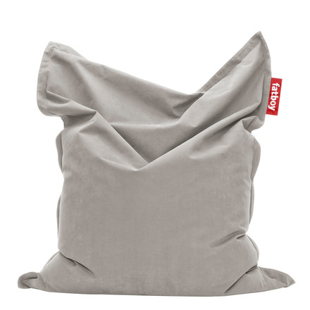 Original stonewashed beanbag by Fatboy in silver grey