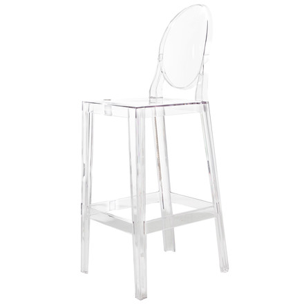 Kartell - One More, One More Please stool, oval H 110 cm, clear, single image