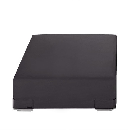 Kartell - Plastics Sofa single element without backrest, black, single image