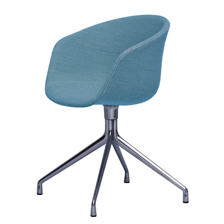 Hay - About A Chair AAC 21, Aluminium polished / Steelcut Trio 2, light blue (853)