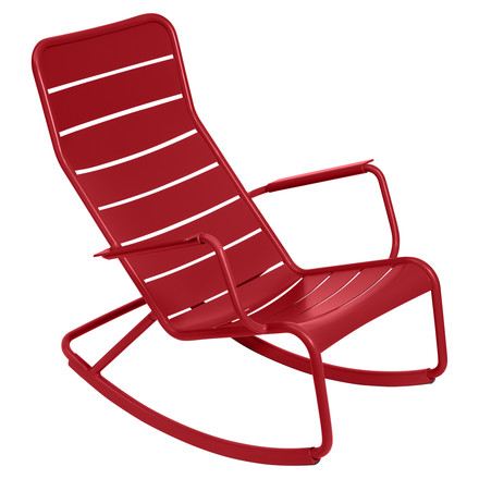 fermob - Luxembourg rocking chair, red, single image