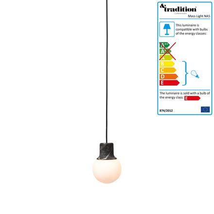 Mass Light NA5 pendant light by &Tradition