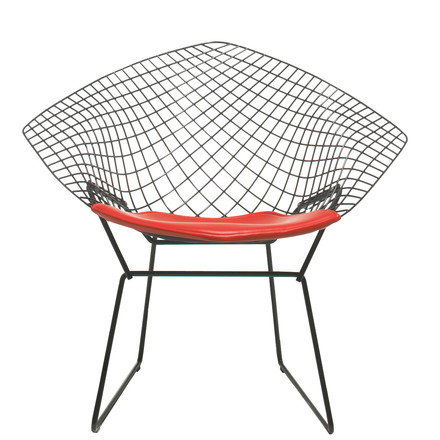 "Knoll - ""Diamond"" outdoor chair, black"