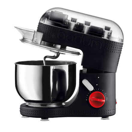 Bodum - Electric Kitchen Machine 4.7L, black, open