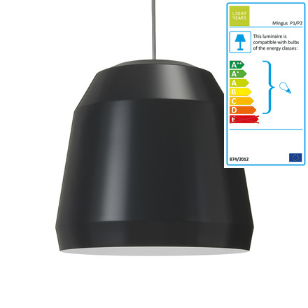 Mingus Pendant Lamp P2 by Lightyears in Nearly Black