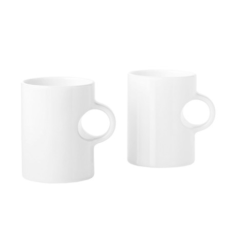 Stelton - Circle mug white, (Set of 2), single image