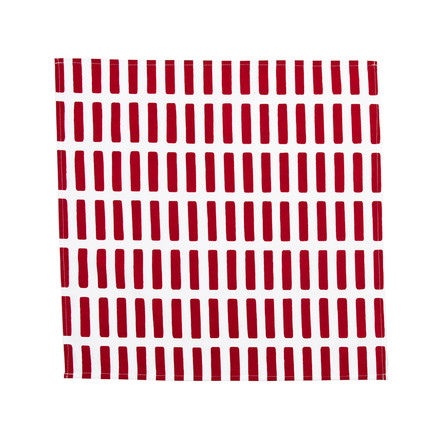 Artek - Siena fabric napkin, red/ white, single image