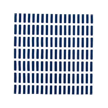 Artek - Siena fabric napkin, white/ blue, single image