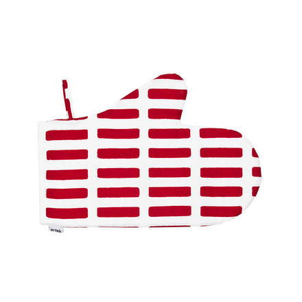 Artek - Siena oven glove, red/ white