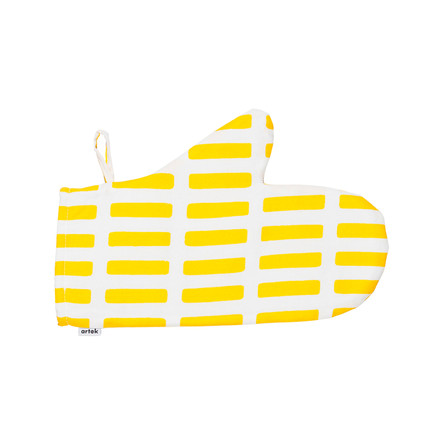 Artek - Siena oven glove, white/ yellow