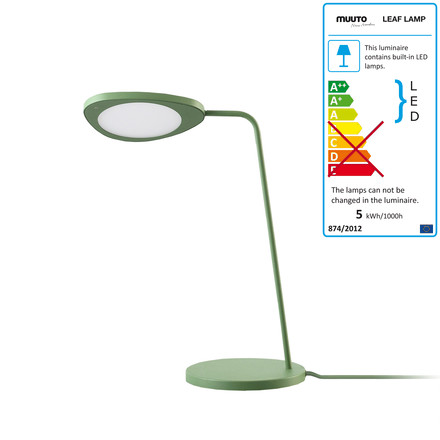 Muuto - Leaf table lamp, green