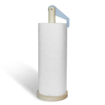 side by side - Paper Towel Holder, iceblue - with paper towel, single image