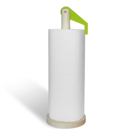 side by side - Paper Towel Holder, green - with paper towel